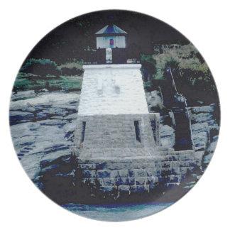 Placa 2 del faro de la colina del castillo plato