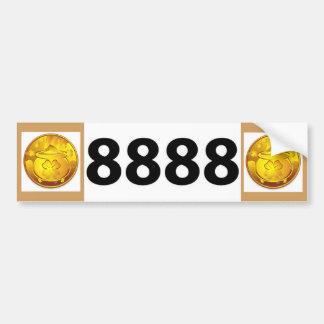 Placa 8888 pegatina para auto