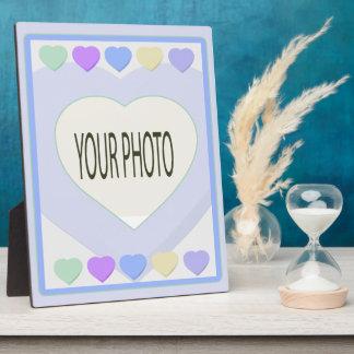 Placa 8x10 del marco de la foto del corazón del be