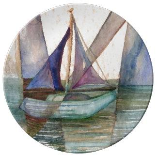 Placa abstracta del coleccionable del arte de la platos de cerámica