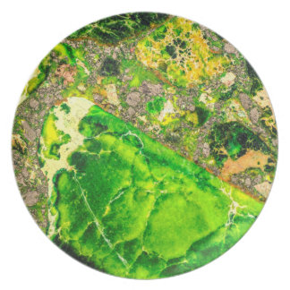 Placa abstracta del modelo de la ágata del platos de comidas