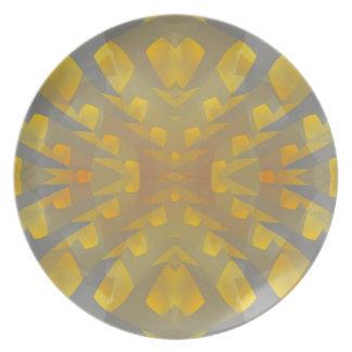 Placa abstracta del revestimiento 647 platos