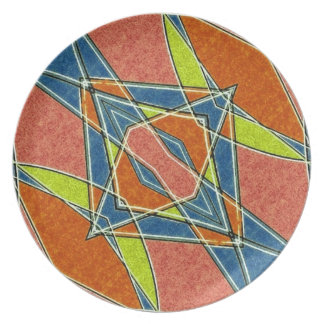 Placa abstracta multicolora platos para fiestas