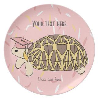 Placa adaptable de la graduación de la tortuga de plato de cena