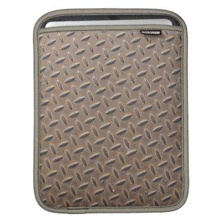 Placa aherrumbrada del inspector hecha del acero o funda para iPads