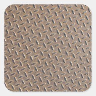 Placa aherrumbrada del inspector hecha del acero o pegatina cuadradas personalizada