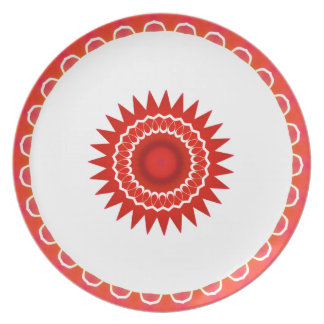 Placa al sudoeste roja platos
