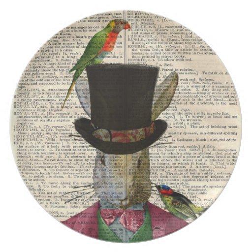 Placa alterada página antigua del arte del libro d plato