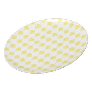Placa amarilla de Dridge Plato Para Fiesta