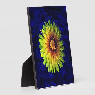 Placa amarilla de la flor