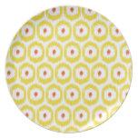 Placa amarilla del iKat Platos Para Fiestas