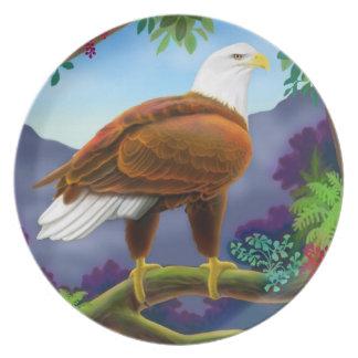 Placa americana de Eagle calvo Plato