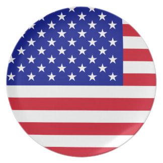 Placa americana plato para fiesta