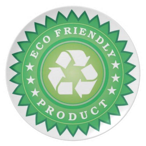 Placa amistosa de Eco Plato