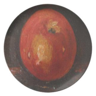 Placa Ana Hayes que pinta Apple Platos