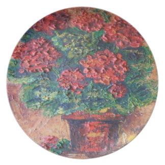 Placa Ana Hayes que pinta belleza roja Platos De Comidas