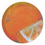Placa anaranjada platos