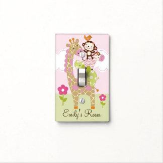 Placa animal personalizada del interruptor de apil cubierta para interruptor