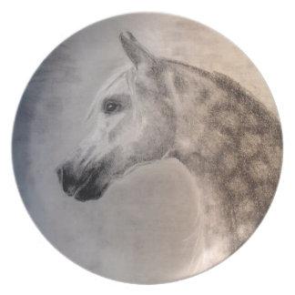 Placa árabe del caballo - caballo árabe plato para fiesta