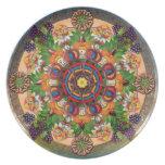 Placa armenia de las uvas de la mandala plato
