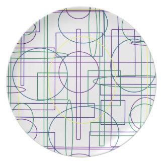 Placa asombrosa del diseño del extracto del laberi plato para fiesta