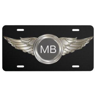 Placa automotriz del monograma fresco placa de matrícula