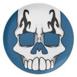 Placa (azul) de Calavera Platos De Comidas