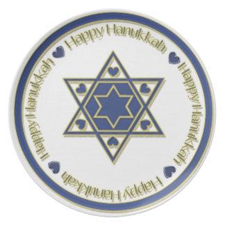 Placa azul de la estrella del oro de Jánuca Plato