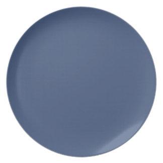 Placa azul de la gaviota plato