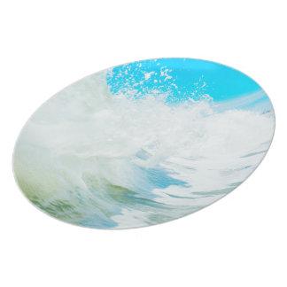 Placa azul de la resaca plato de cena