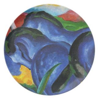 Placa azul de los caballos de Franz Marc Platos