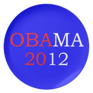Placa azul de Obama 2012 Plato