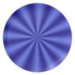 Placa azul del fiesta de Starburst Plato