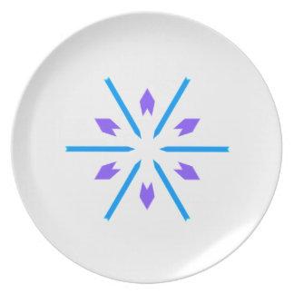 Placa azul y púrpura de Starburst Platos