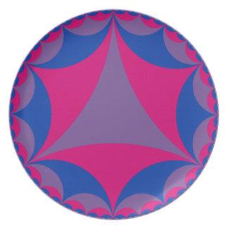 Placa bisexual de la bandera plato