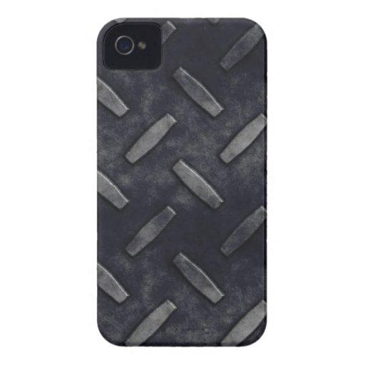 Placa Blackberry del diamante intrépido iPhone 4 Case-Mate Cobertura