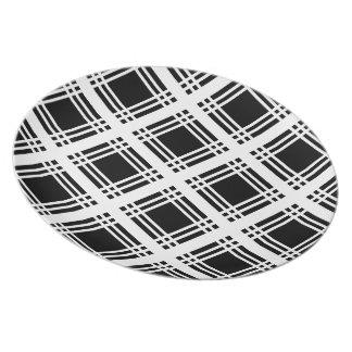 Placa (blanca) de la guinga platos