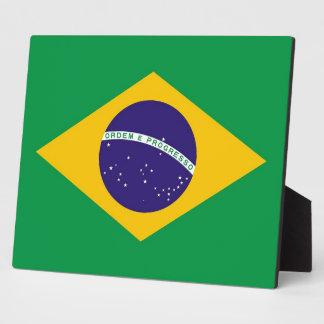 Placa brasileña de la bandera