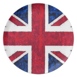 Placa BRITÁNICA de la BANDERA Platos De Comidas