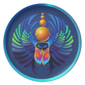 Placa caliente del escarabajo platos para fiestas