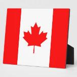 Placa canadiense de la bandera