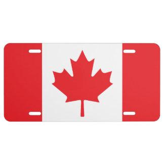 Placa canadiense de la bandera placa de matrícula