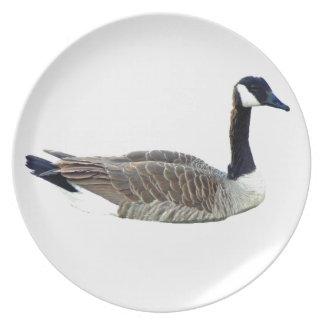 Placa canadiense del fiesta del ganso platos