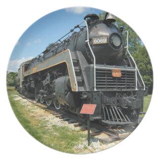 Placa canadiense del tren de ferrocarril del vinta plato