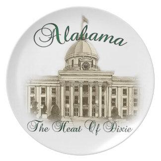 Placa capital del edificio de Alabama Plato De Comida