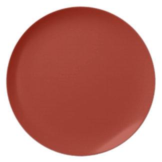 Placa cardinal oscura plato