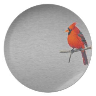 Placa cardinal plato de cena