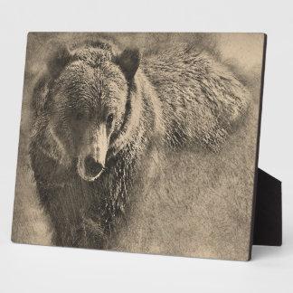 Placa casera decorativa de la decoración del oso