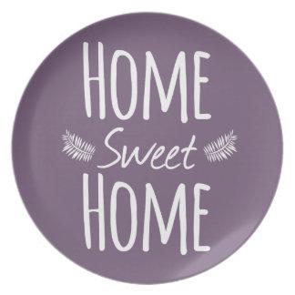 Placa casera dulce casera de la tipografía platos de comidas