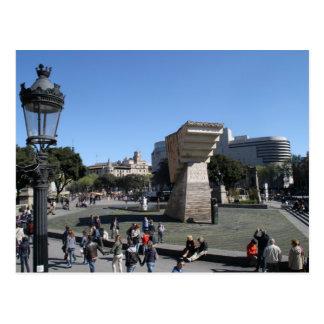 Plaça Catalunya, Barcelona Postcard